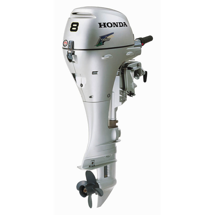 "Honda Marine BF8 8 HP Electric Start Engine 20"" Gas Powered Outboard Motor"