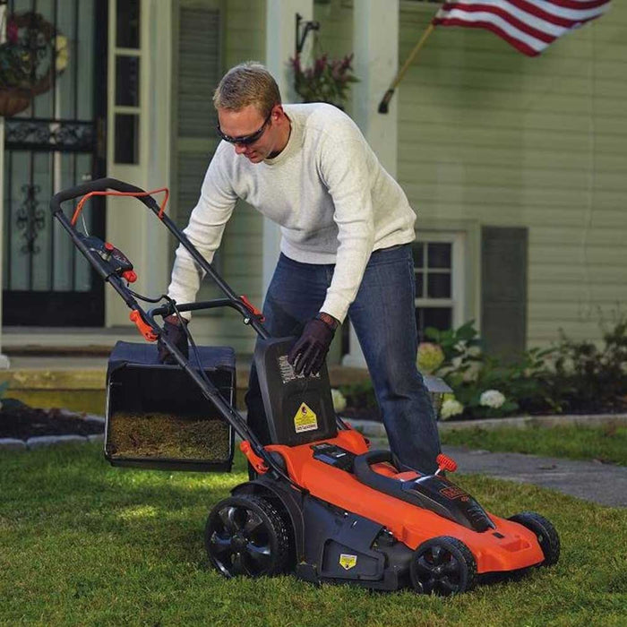 "Black and Decker CM2043C 40V MAX 20"" Cordless Li-Ion Electric Push Lawn Mower"