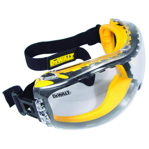 DeWALT DPG82-11 Clear Anti-Fog Lens CONCEALER Dual Mold Safety Goggles - Yellow
