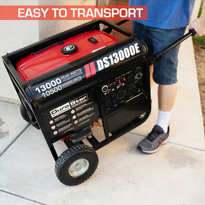 DuroStar DS13000E 13000 Watt 20HP Gasoline Portable Generator w/ Push Button