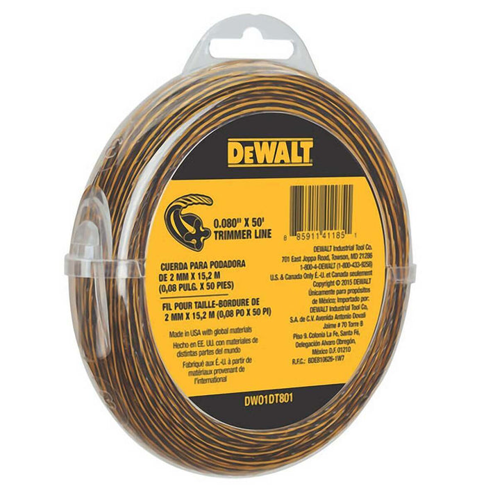 DeWALT DWo1DT801 .080-Inch x 50-Foot Flexible String Trimmer Line