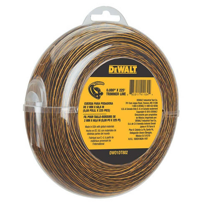 DeWALT DWO1DT802 .080-Inch x 225-Foot Flexible String Trimmer Line