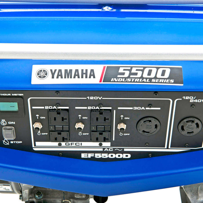 Yamaha EF5500D 358cc 5,500-Watt 120/240-Volt Dual Voltage Recoil Start Generator