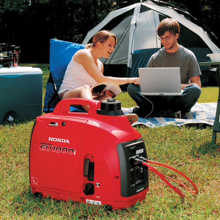Honda EU1000i 1,000 Watt 120 Volt Super Quiet Light Weight Inverter  Generator