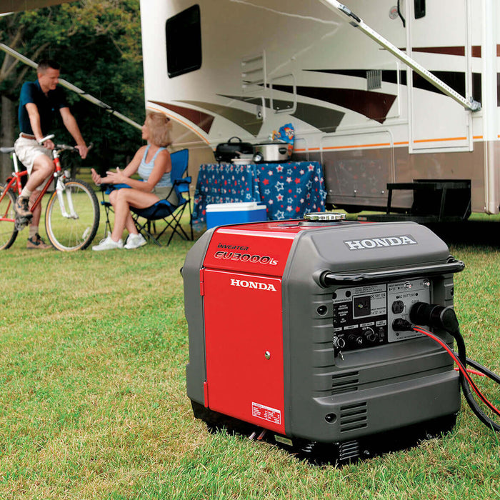 Delightful Honda EU3000is 3,000 Watt 120 Volt Super Quiet Light Weight Inverter  Generator