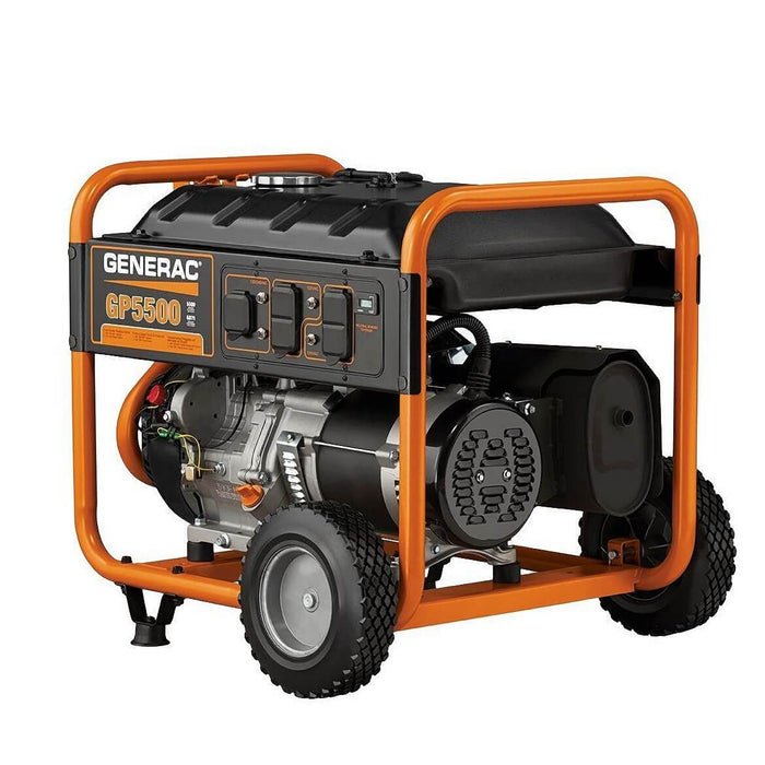 Generac GP5500 389cc 5,500-Watt 120/240-Volt Recoil Start Portable Generator - 5939