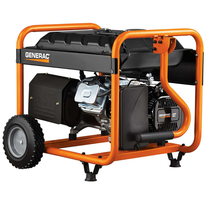 Generac 5975 389cc 5,500-Watt Recoil Start Gasoline Portable Generator - 5975