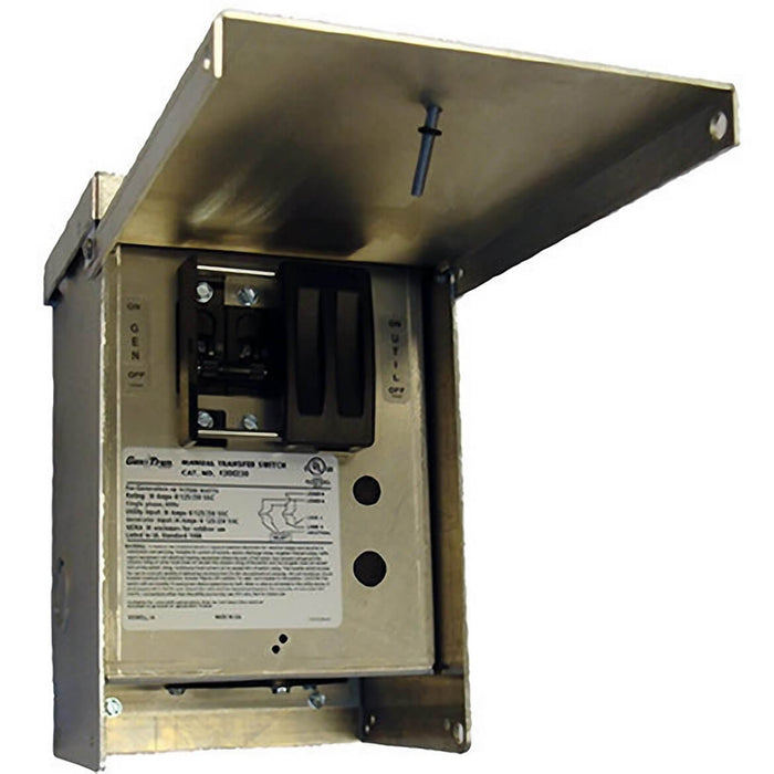 Generac GNC-6377 30-Amp 120/240V Outdoor Manual Transfer Switch Nema 3R