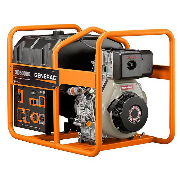 Generac XD5000E 5500-Watt Electric Start Diesel Power Portable Generator
