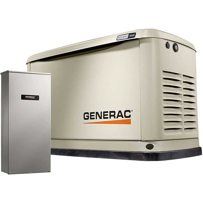 Generac 70391 20/18 kW Air-Cooled Standby Generator, Alum Enclosure, 200 SE (not CUL)