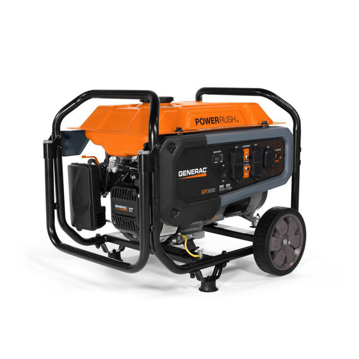 Generac 7678 3600W 120V GP3600 Gasoline Powered Portable Generator
