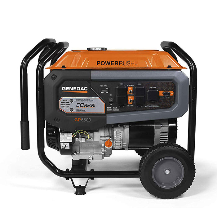 Generac 7683 6500W 120/240V GP6500 Gasoline Powered Portable Generator CO-SENSE