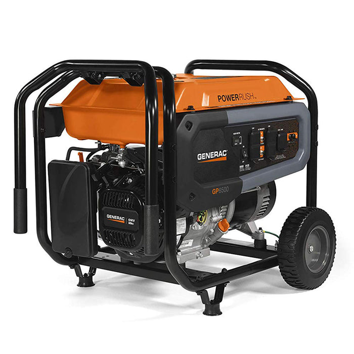 Generac 7690 6500W 120/240V GP6500 Gasoline Powered Portable Generator