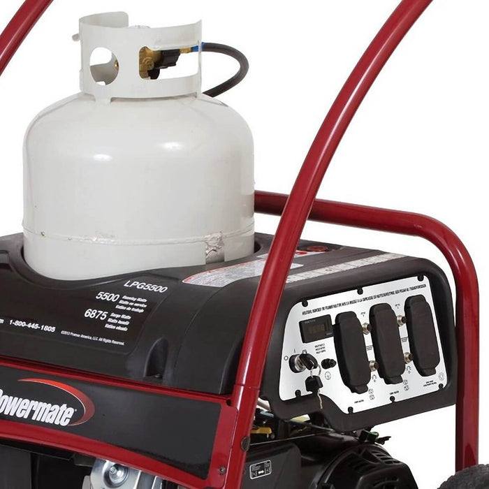 Powermate 5,500-Watt 420-cc Electric Start Propane Portable Generator