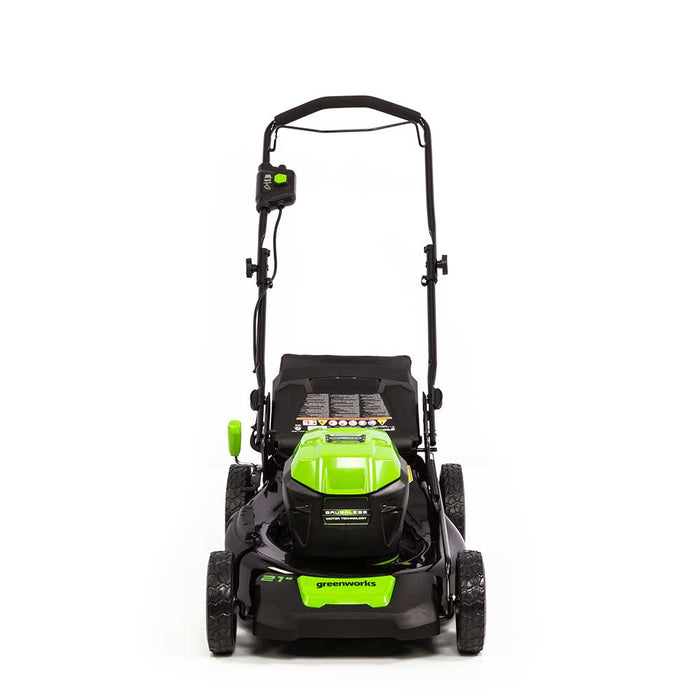 "GreenWorks Commercial 48PM21 48V 21"" Dual Volt Brushless Walk Behind Lawn Mower"