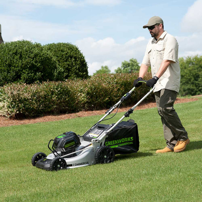 GreenWorks Commercial GM210 82V 21'' Brushless Walk Behind Lawn Mower -Bare Tool