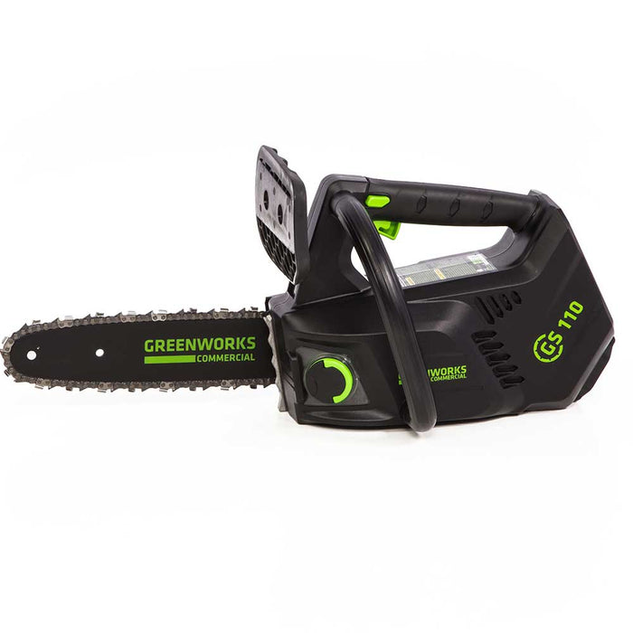 GreenWorks Commercial GS110 40V 10'' Cordless Top Handle Arborist Chainsaw Kit