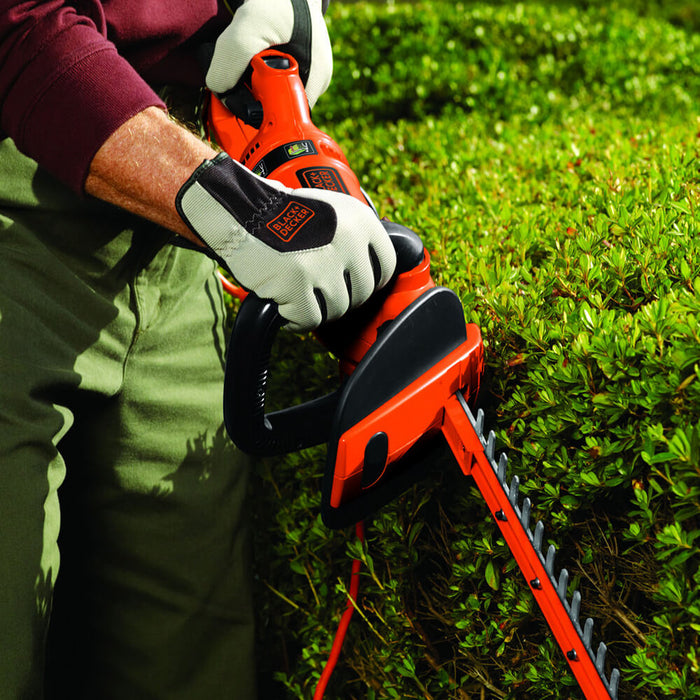 "Black and Decker HH2455 24"" Hedge Trimmer w/ 180-Degree Rotating Handle"