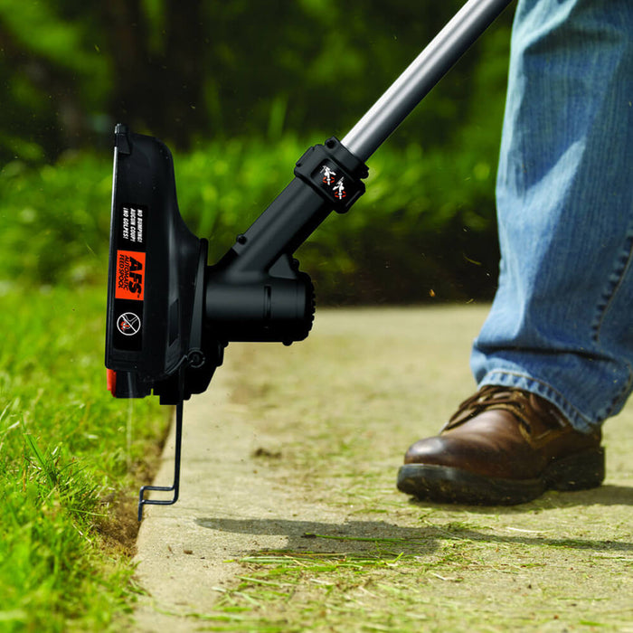 using the Black and Decker LST136R String Trimmer as an edger