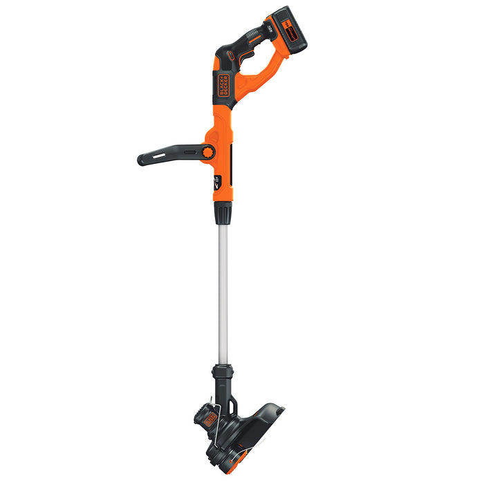 vertical side view of the Black and Decker LST140C String Trimmer
