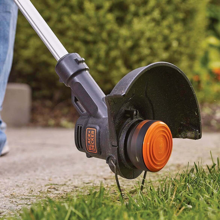 using the Black and Decker LST201 String Trimmer as an edger.