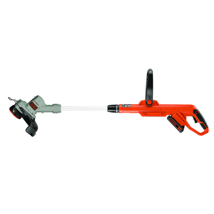 side view of the Black and Decker LST300 String Trimmer