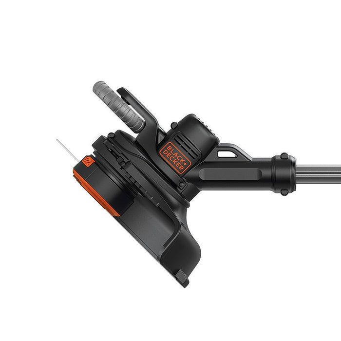 side view of the head unit of the Black and Decker LSTE523 String Trimmer