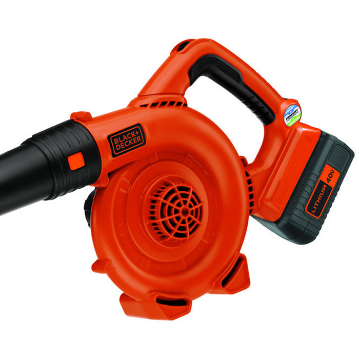 handle view of the Black and Decker LSW36 Leaf Blower