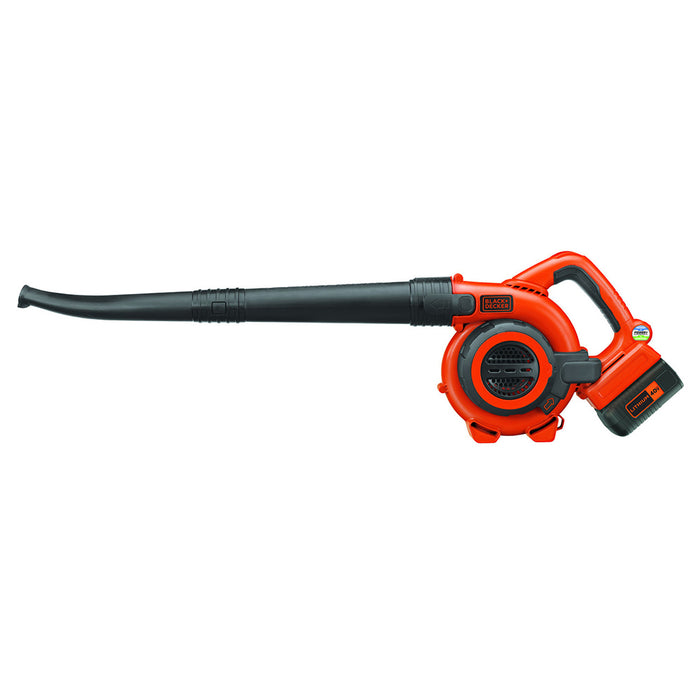 Side view of the Black and Decker LSWV36 Sweeper Blower