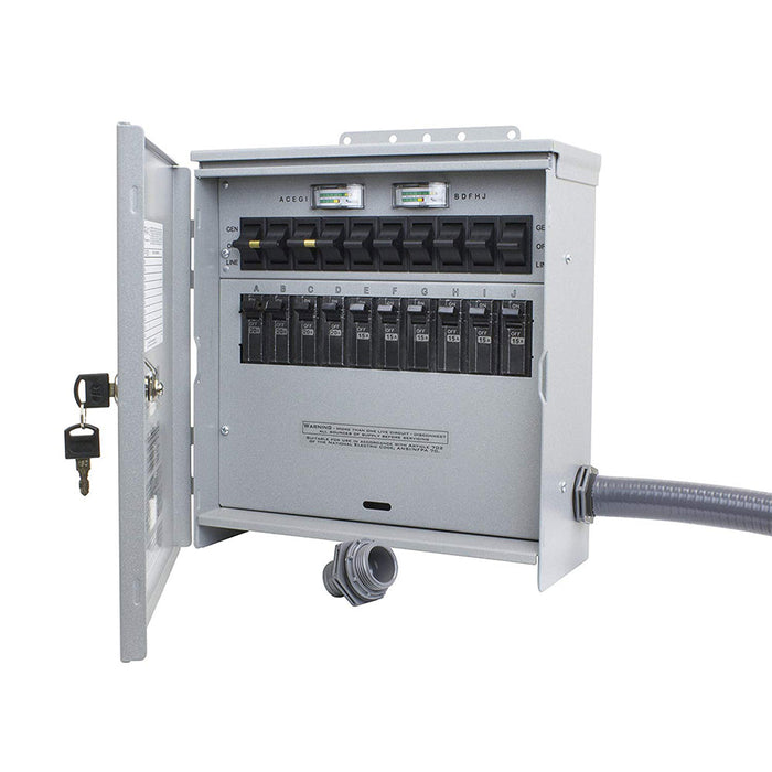 Reliance R510A 120/240V 50 Amp 10 Circuit Pro/Tran-2 Outdoor Transfer Switch