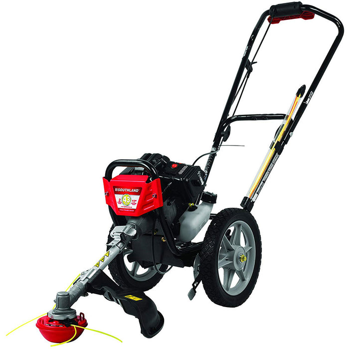 Southland SWSTM4317 43cc 2 Cycle Gasoline Power Wheeled String Trimmer Mower