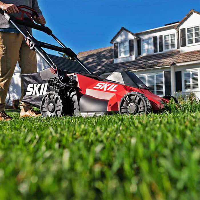 "Skil SM4910-10 40V PWRCore 20"" Cordless Brushless Self-Propelled Lawn Mower Kit"