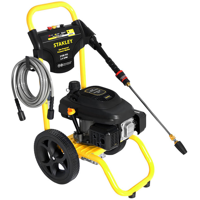 Stanley SXPW3124 196cc 3100-Psi 2.4-Gpm Gas Powered Cold-Water Pressure Washer