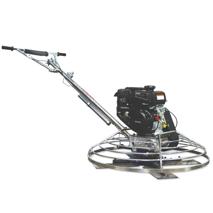 "Tomahawk Power TPT46K 9-HP 46"" Concrete Gasoline Power Trowel Edger w/ Float Pan"