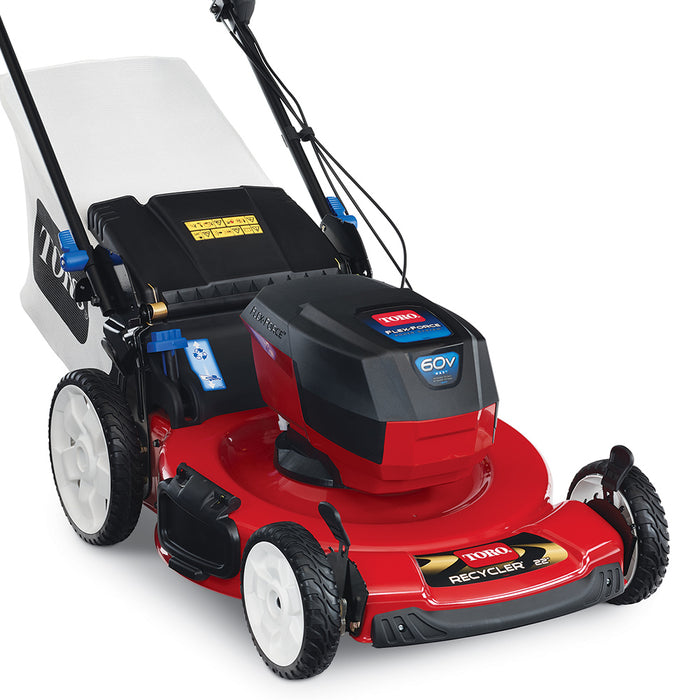 Toro 20366 60 Volt 22 Inch 7.5Ah Cordless Smartstow Recylcer Push Lawn Mower Kit