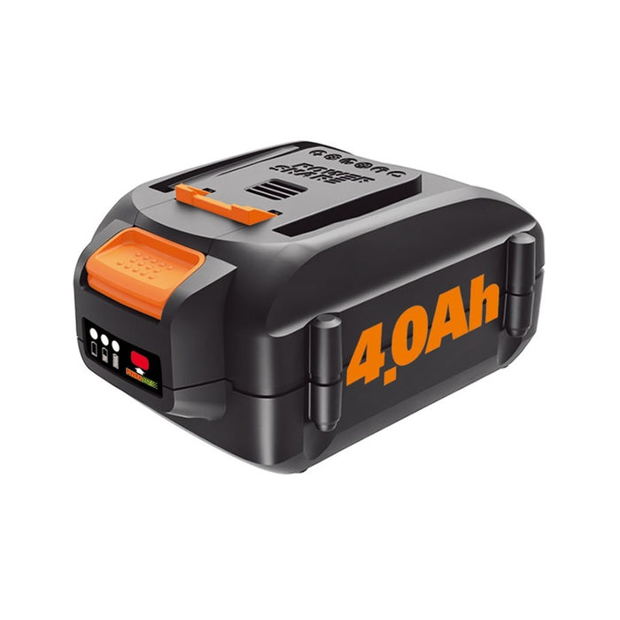 Worx WA3578 20-Volt 4.0Ah Max High-Capacity Lithium-Ion Battery Pack