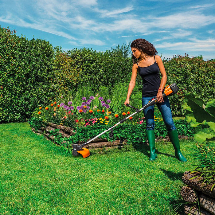 Worx WG184 40 Volt 13 Inch Cordless String Trimmer and Wheeled Edger Kit
