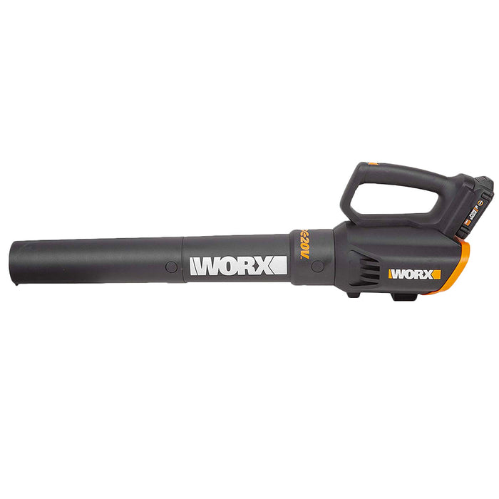 Worx WG547 20 Volt 75 Mph 360 Cfm Power Share Cordless Turbine Leaf Blower Kit