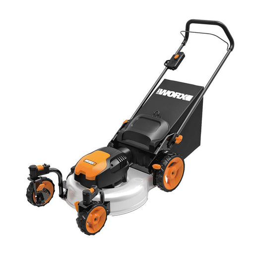 Worx WG719 120-Volt 19-Inch 13-Amp 3-in-1 Electric Lawn Mower w/ Caster Wheels