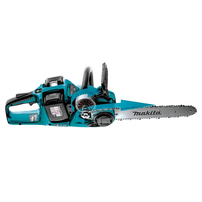 Makita X2 XCU04PT 36-Volt LXT 16-Inch Brushless Cordless Chainsaw Kit