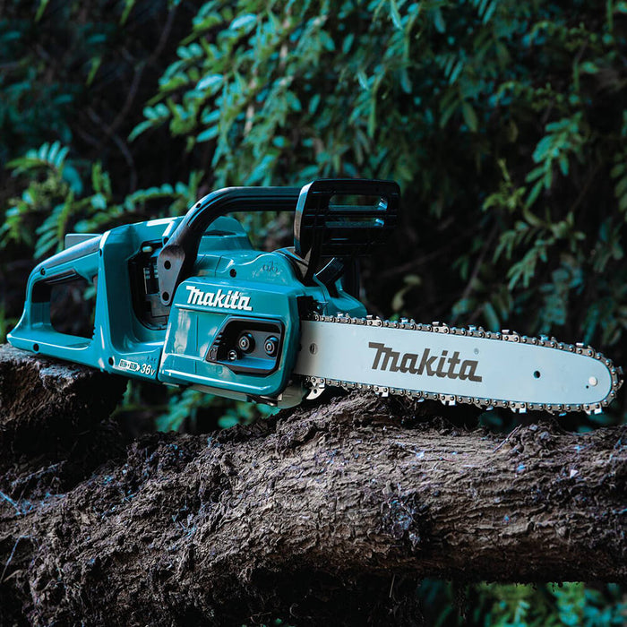 Makita XCU07Z 36 Volt X2 14 Inch Brushless Cordless Chainsaw, Bare Tool