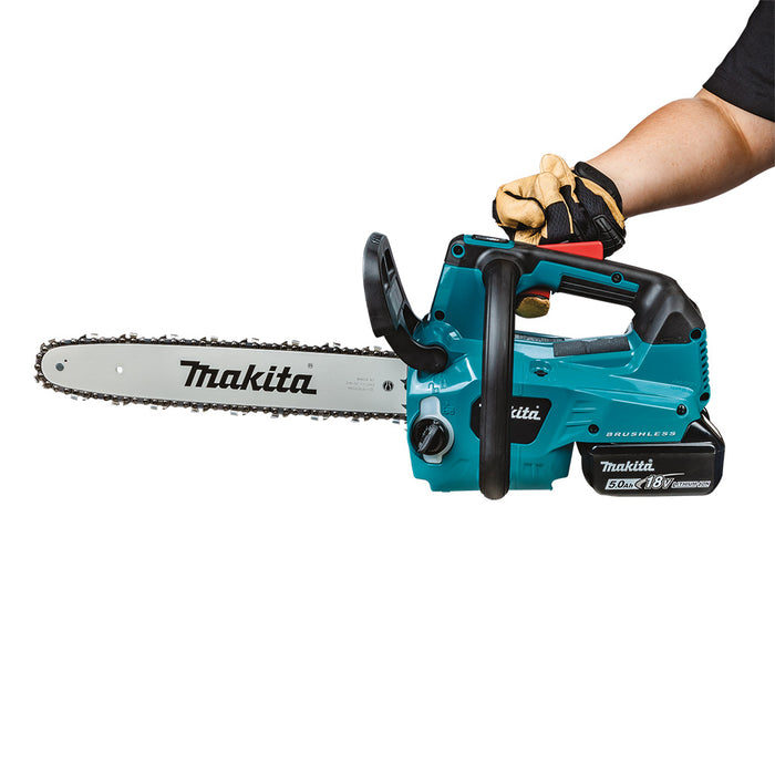 "Makita XCU08PT 18V X2 36V 14"" Li-Ion Brushless Top Handle Chain Saw Kit"
