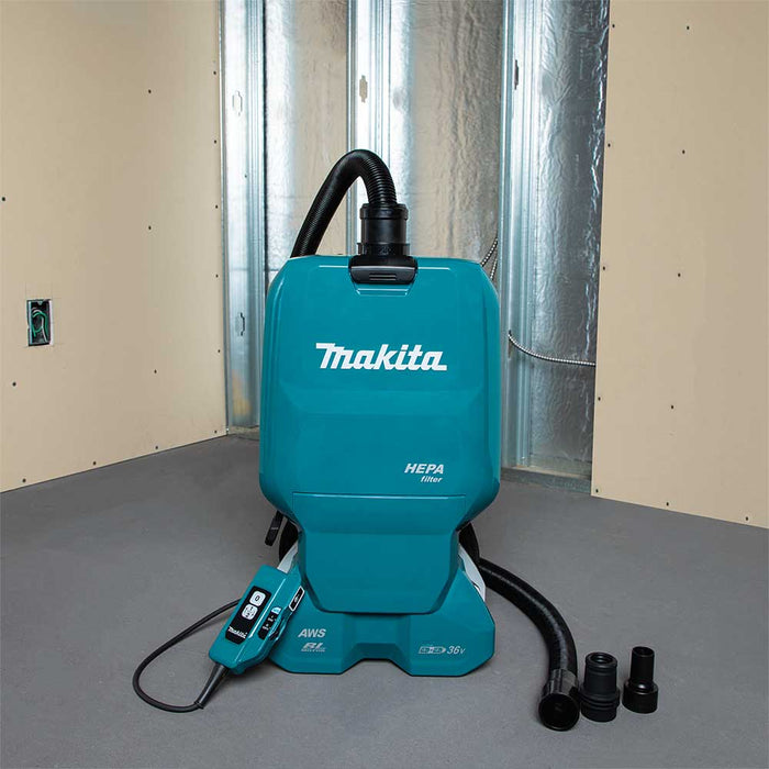 Makita XCV18PTX 18V X2 36V LXT 1.6 Gallon Cordless Backpack Dry Vacuum Kit