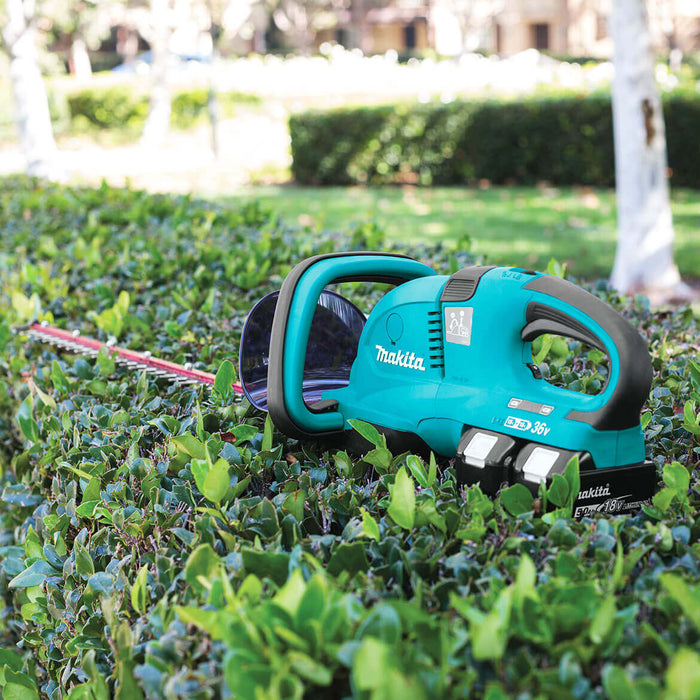Makita X2 XHU04PT 36-Volt LXT 5.0 Ah Lithium-Ion Cordless Hedge Trimmer Kit