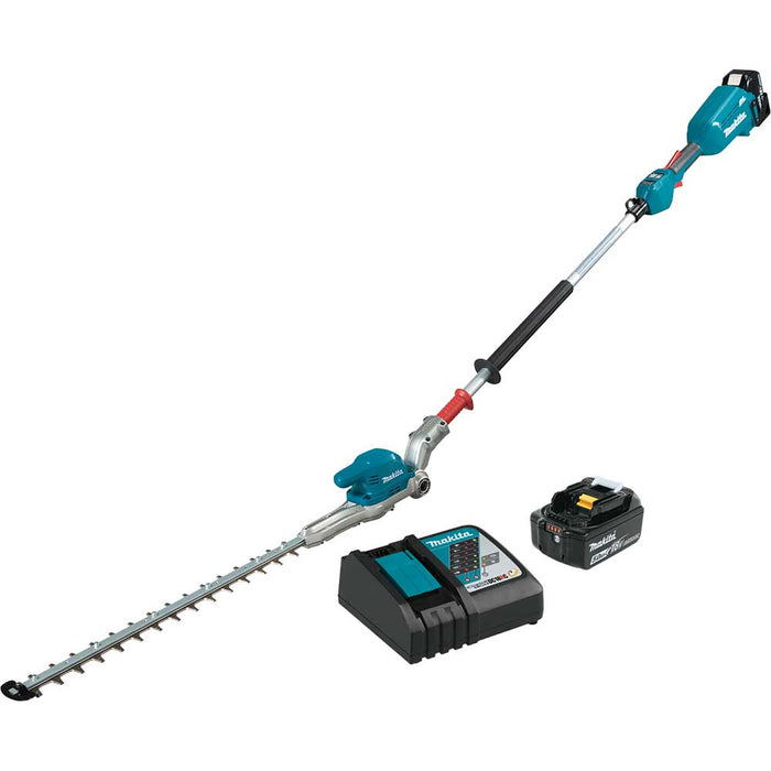 "Makita XNU01T 18V 20"" LXT Brushless Cordless Articulating Pole Hedge Trimmer Kit"