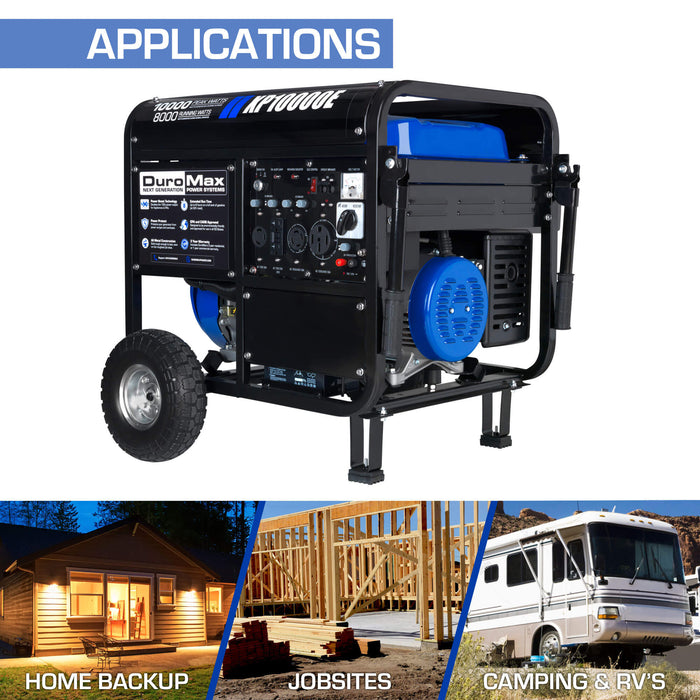 DuroMax XP10000E 10000W 420cc Portable Gas Electric Start Generator Home Standby