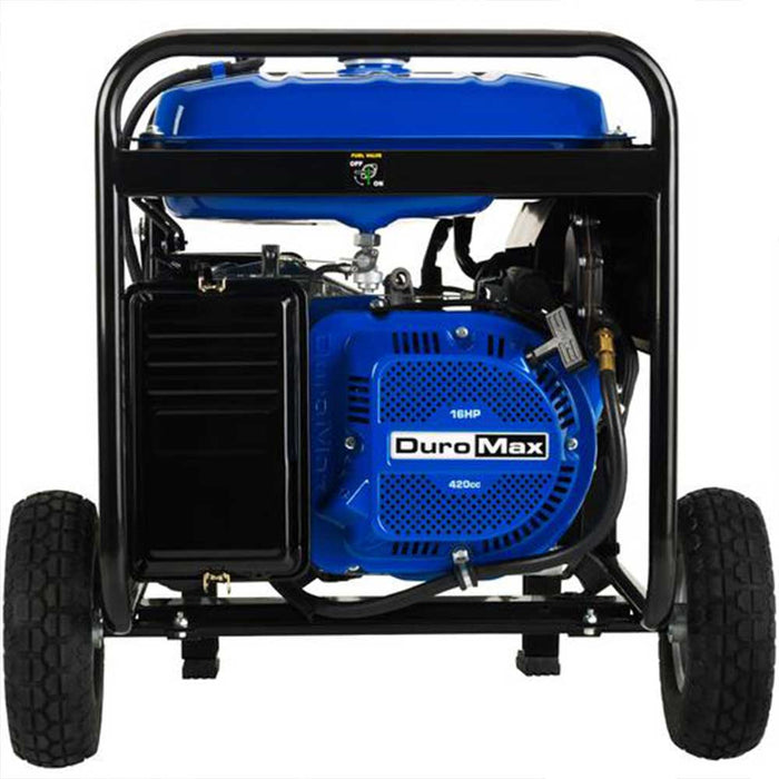 Duromax XP8500EH 8500W 16 Hp Gasoline Generator w/ Electric Start Wheel Kit