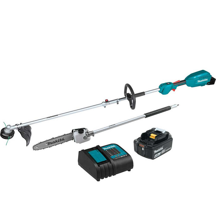 "Makita XUX02SM1X4 18V LXT Li-Ion Couple Shaft Head Kit w/ 13"" - 10"" Attachments"