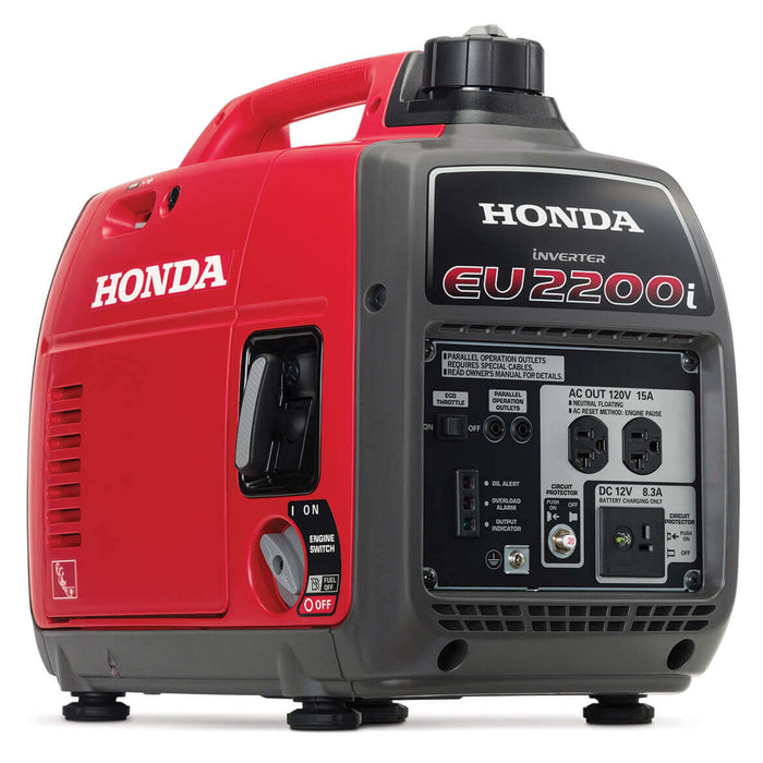 Honda EU2200i 2200-Watt 121cc Super Quiet Gas Powered Portable Inverter Generator