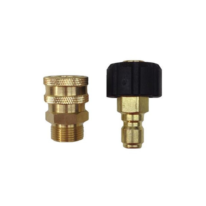 "Generac 6630 Metric To 3/8"" Brass Quick Disconnect Set for Pressure Washers"